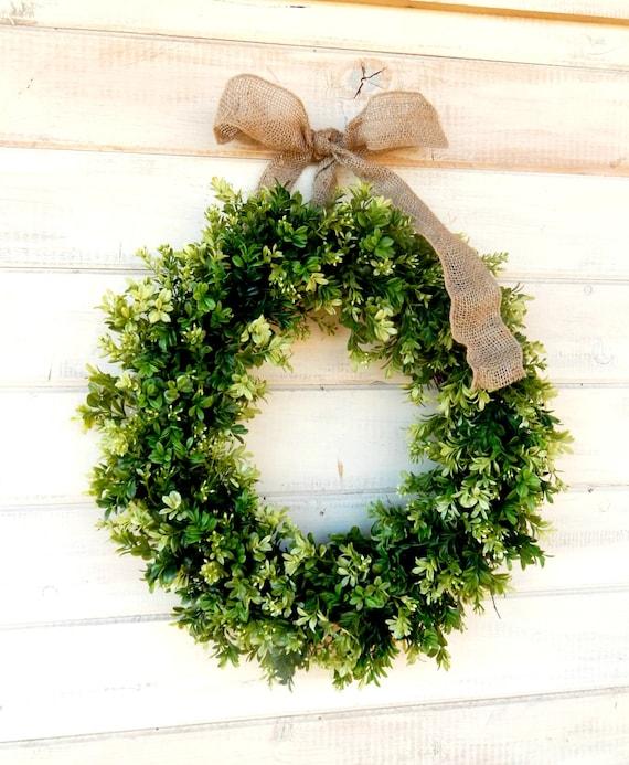 Merveilleux Spring Wreath BOXWOOD Wreath Summer Wreath LARGE Door   Etsy