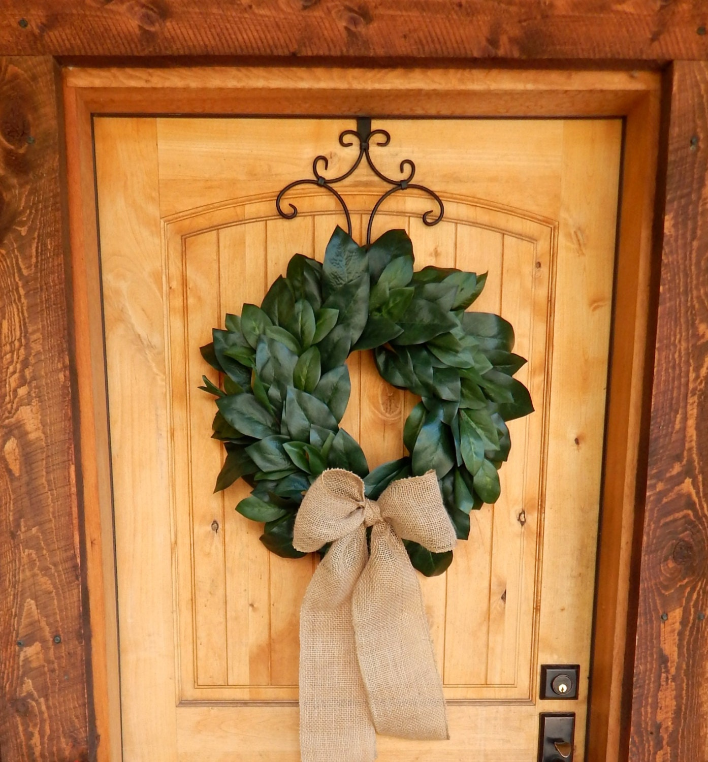 Magnolia Wreath Farmhouse Wreath Magnolia Door Wreath