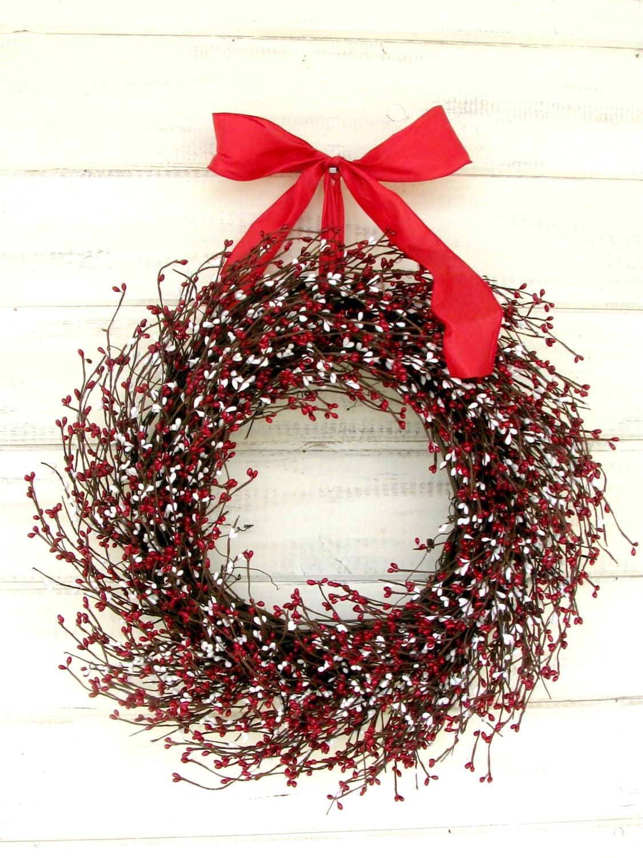 Valentine Wreath Valentines Day Door Wreath Winter Wreath Red