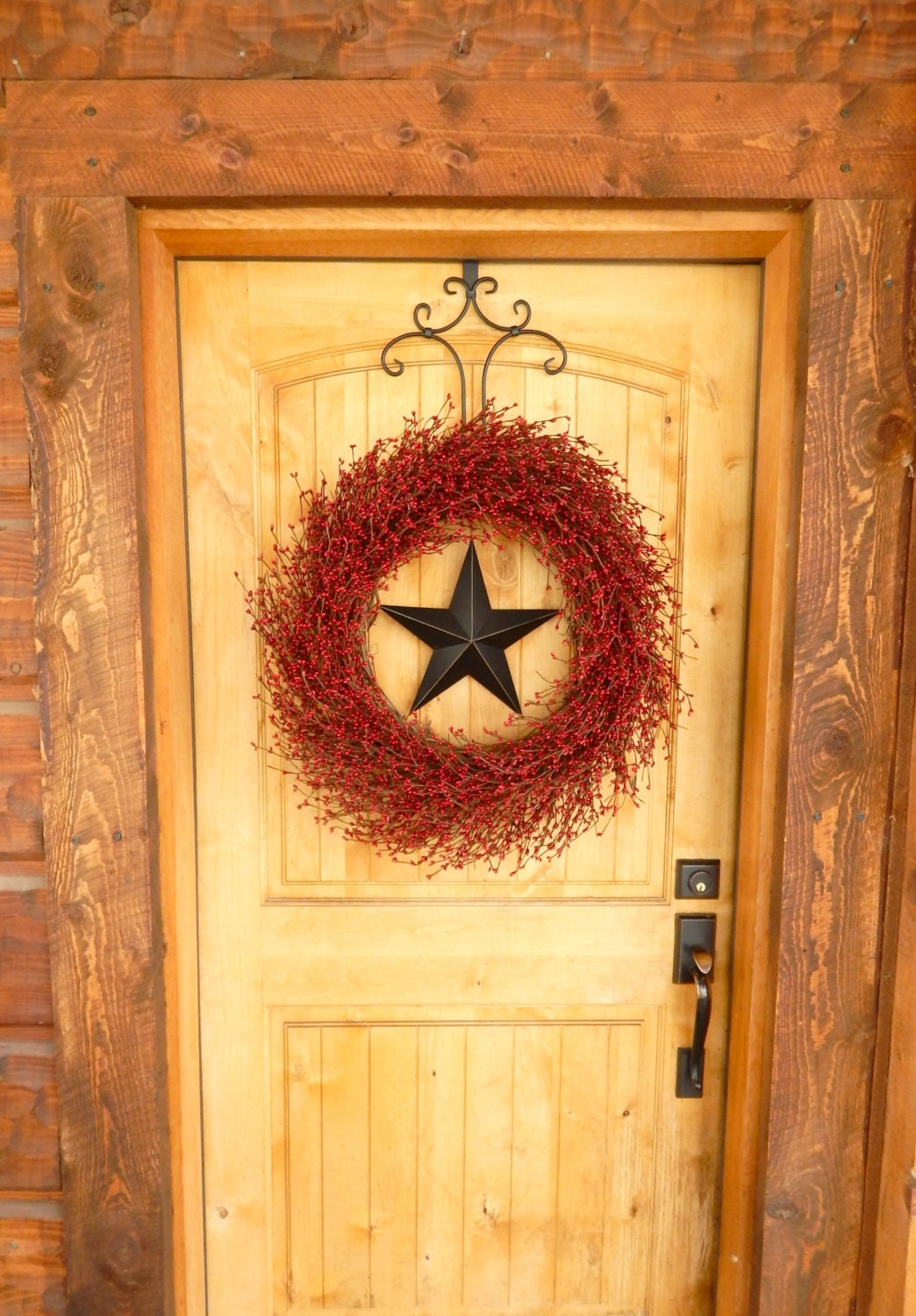 Summer Wreath Patriotic Door Wreath Primitive Home Decor Large Star