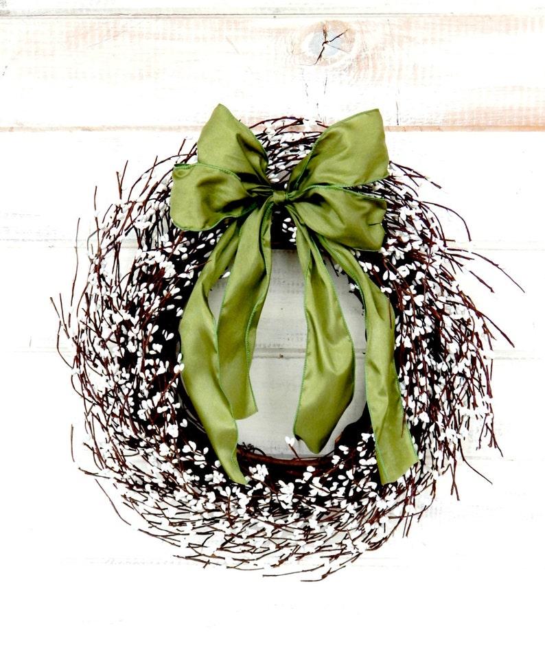 Summer Wreath-Fall Wreath-Door Wreath-Farmhouse Wreath-Winter Wreath-Weddings-Christmas Gift-WHITE Wreath-Housewarming Gifts-Wedding Gift