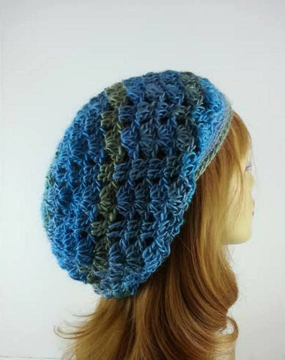 069c80793e4 Womens Blue Hat Slouchy Hats Blue Slouchy Hat Trendy Blue Hat