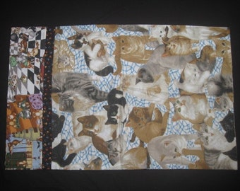 Pillowcase: Cats with Paw Prints