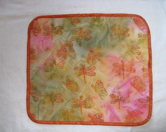 Quilted Butterfly Finger Labyrinth, Pink and Orange