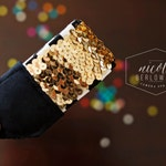 Custom Sequin Key Fob Keychain- YOU PICK COLOR