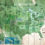 National Park, National park map, USA Parks, Hiking Map, Gift for hiker, US  monuments, Push pin board, US adventure decor, Nature Lover Gift
