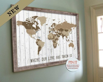 World map framed etsy more colors world map gumiabroncs Gallery