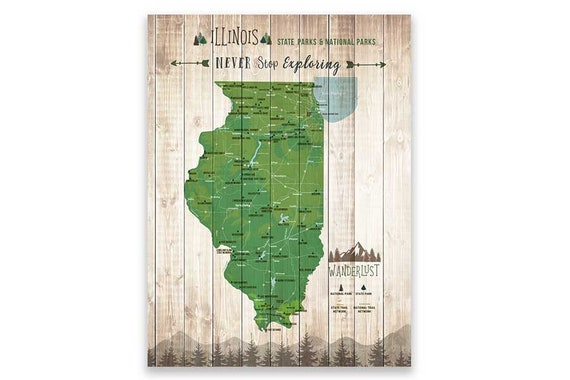 Illinois State Art, State Map of Illinois, State print with parks, on illinois beach state park map, franklin creek state park map, weldon springs state park map, delaware state park map, kickapoo state park map, wisconsin state park map, giant city state park map, iowa state park map, buffalo rock state park map, lowden state park map, northwest state park map, walnut point state park map, abraham lincoln state park map, argyle lake state park map, moraine view state park map, gebhard woods state park map, powhatan state park map, hennepin canal parkway state park map, fox ridge state park map, cave-in-rock state park map,