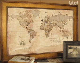 ancestry map vintage inspired map 30x45 inches keepsake gift push pin travel gift for grandparents genealogy maps ancestry tracking