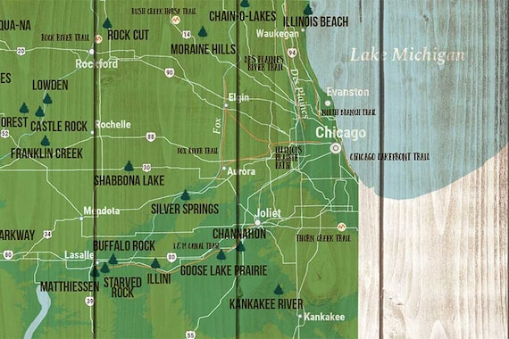 Illinois Beach State Park Decal Sticker Explore Wanderlust Camping Hiking