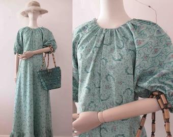 Handmade Retro 70s Prairie Boho Maxi Dress Small Wamsutta Gunne Sax Fabric The Audrey Dress