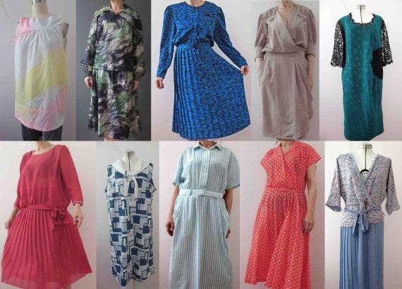 Bulk Lot of 10 Vintage 70s  80s Clothing