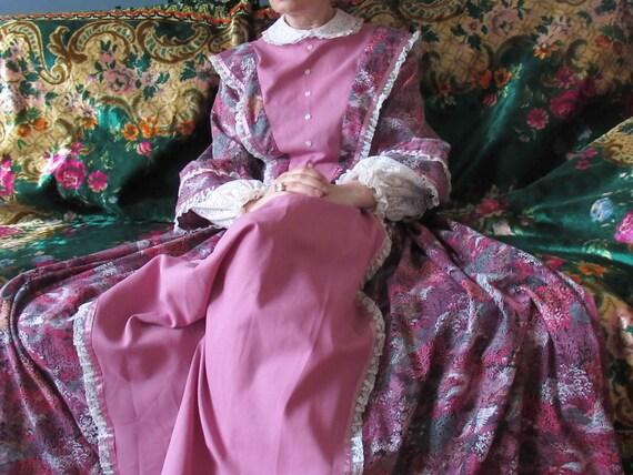 70s Civil War Maxi Prairie Dress Small Medium
