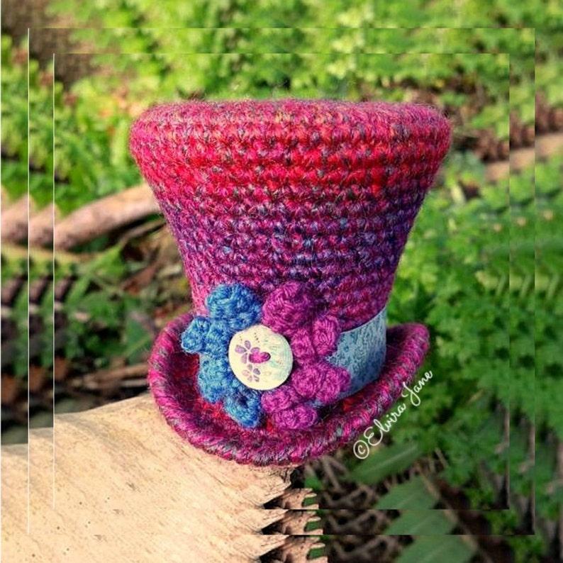 UK Crochet Pattern for Top Hat Fascinator image 0