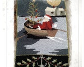 PRINTED - Needle Punch Pattern - (Seaside Santa) (PNP160P) - by Kate Gillery at Briar Cottage