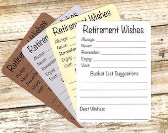 RETIREMENT WISHES - advice for Retirement/Bucket list suggestions/Retirement party/Retirement ideas