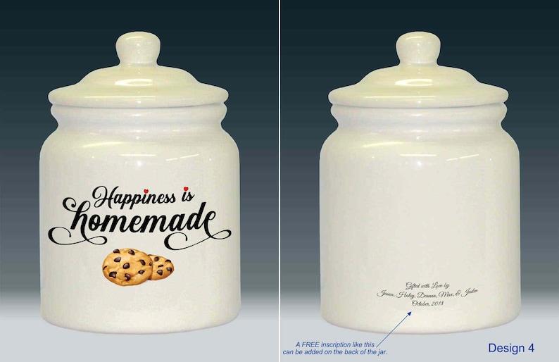 Ceramic Cookie Jar Happiness is Homemade 5 Design Design 4