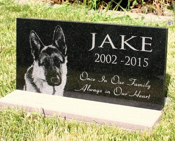 Pet Grave Marker Pet Memorial Personalized Granite Headstone Etsy