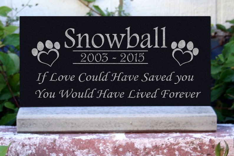 Pet Grave Sign and picture Outdoor Heart Memorial Plaque with photo Grave Sign