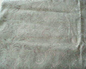 Upholstery Drapery Fabric in Dark Olive Green Color.