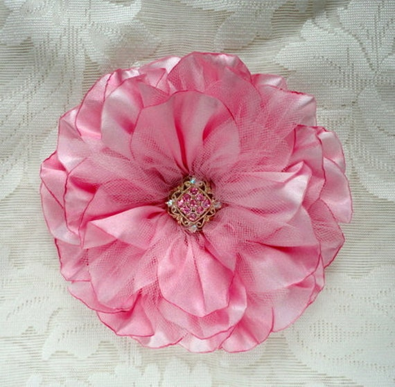 6 Inch Pink Satin Corsage