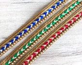 Wholesale Beaded Indian Lace Trim By 9 Yards, Holiday Decorations Ribbon Sari Fabric Trim, Saree Border Trim, Table Runner, Boho Skirt trim