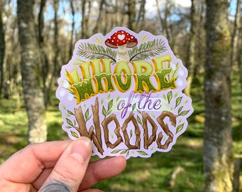 Whore of the Woods Vinyl Sticker - Lilac