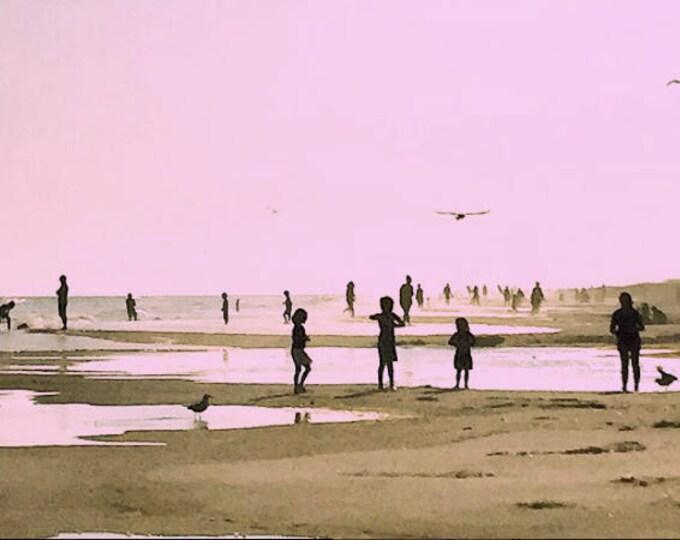Rockaway Beach in Pink