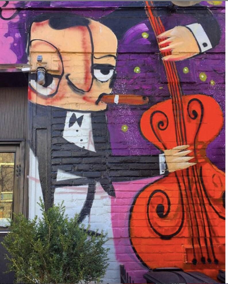 Jazz Man NYC Street Art Photo image 0