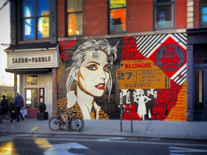 BLONDIE street art MURAL image 0