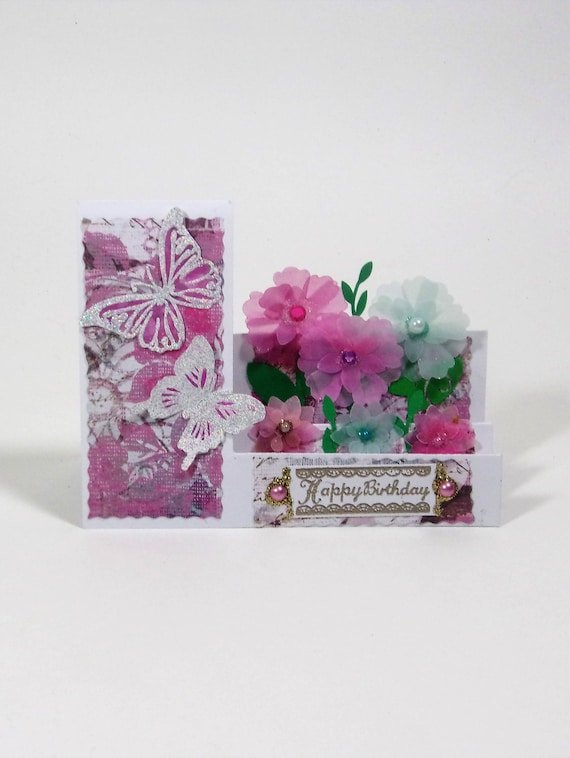 3D Happy Birthday Flower Garden Card