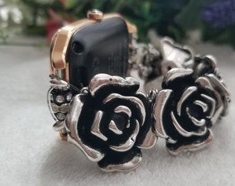 Unusual rosebud beaded 22mm smart watch band