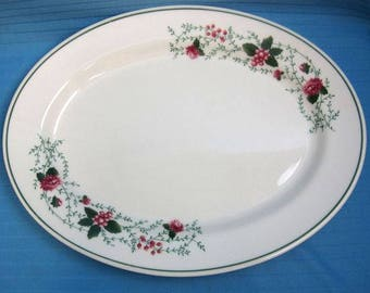 Waverly Garden Room Roseberry Platter Large 14