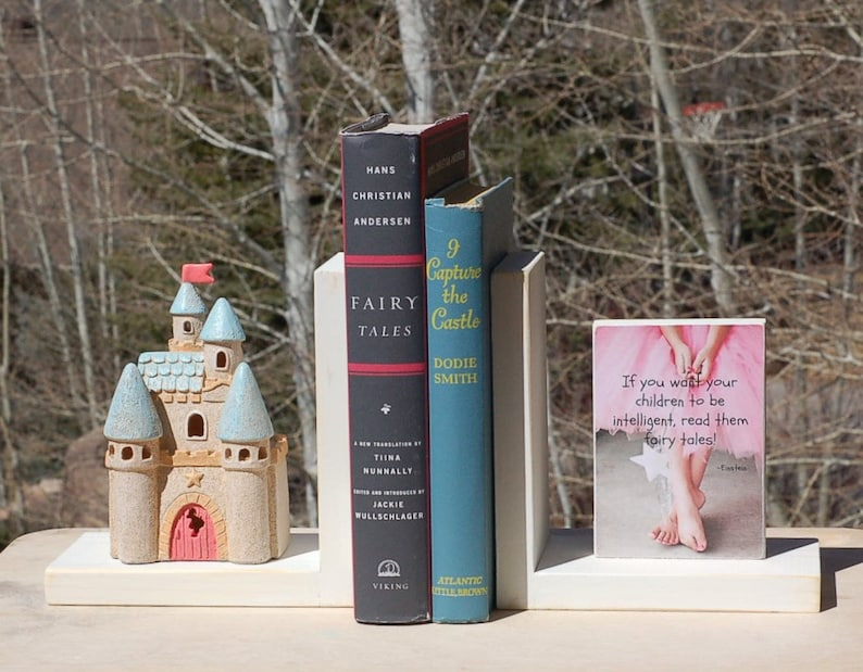 Einstein Fairy Tale Quote Bookends Castle Etsy
