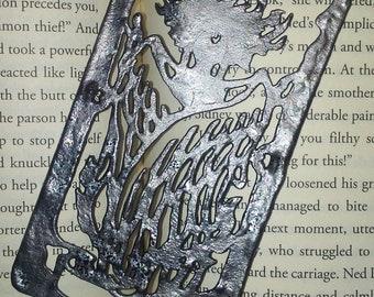 Metal CardCaptor Sakura Clow Card Bookmark, 2D Metal Cosplay Prop, The Firey