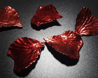 Fallen Metal Flower Rose Petals