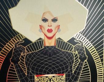 Katya - Gold Foil Print