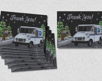 LLV Letter Carrier Thank You Post Cards, postal postcards ©