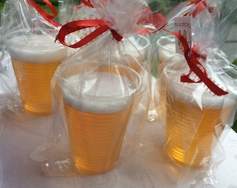 Beer Soap, craft beer soap, this sud's for you, party favor, honey ale soap
