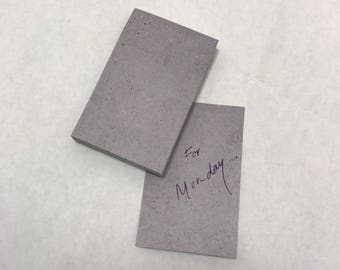 Grey Stone Concrete Look Sticky Note Pad