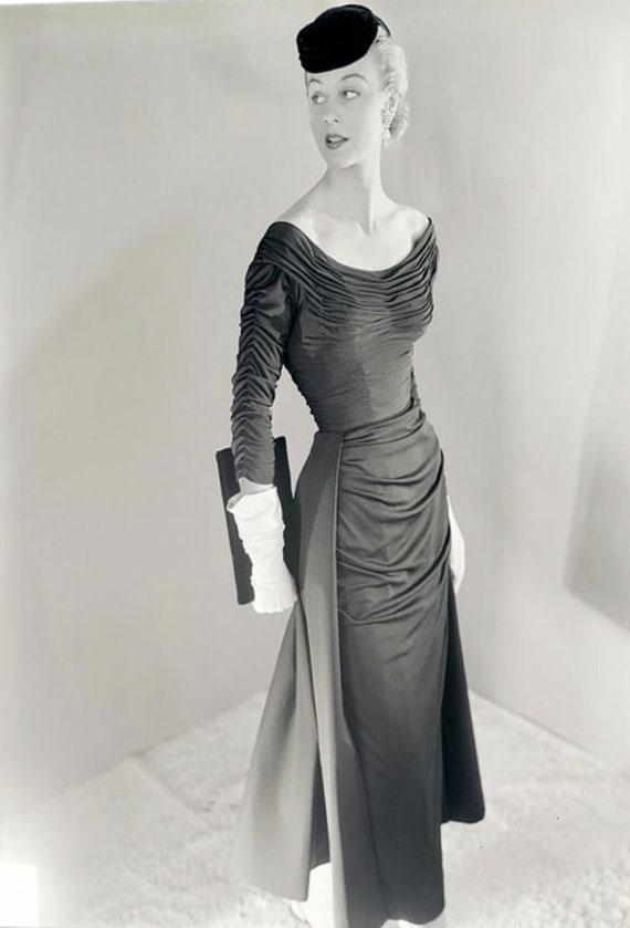 Ceil Chapman 1950's Wiggle Dress - image 1