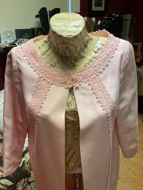 60s Pink Linen Duster - image 4