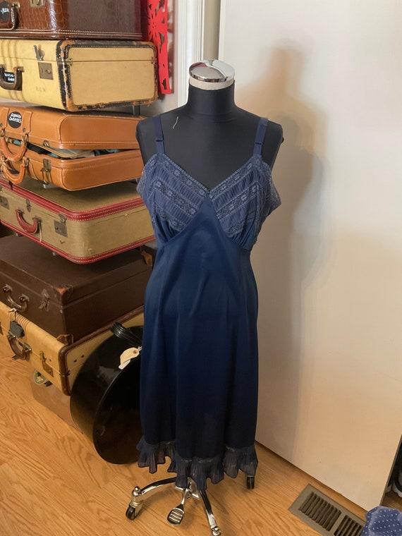 Vintage Navy Blue Slip 1940s