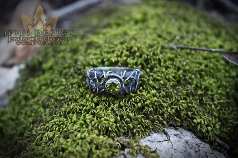 Custom Silver or Gold Filigree Reclaimed Vine Engagement Ring