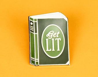 Get Lit Enamel Lapel Pin