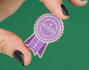 Awkward Award Enamel Lapel Pin