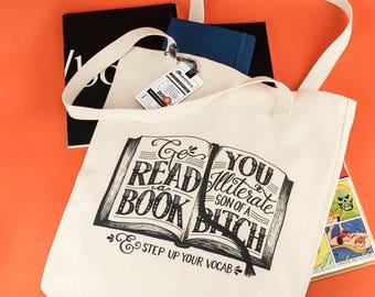 Go Read a Book Tote Bag