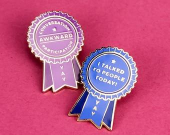 Self-Care Award Enamel Lapel Pins - Set of Two