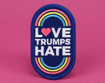 Love Trumps Hate Iron On Pride Patch