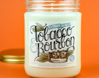 Tobacco & Bourbon Soy Candle